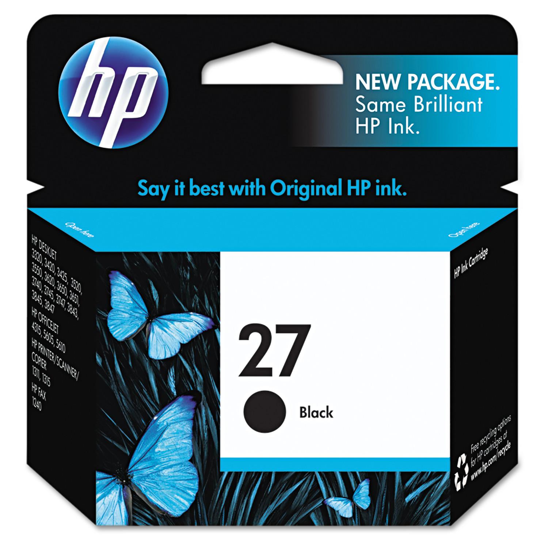 HP 27, (C8727AN) Black Original Ink Cartridge