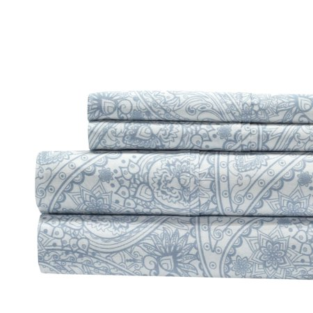 Aspire 300 Thread Count 100% Cotton Paisley Sheet (Glass Accent Sheet)