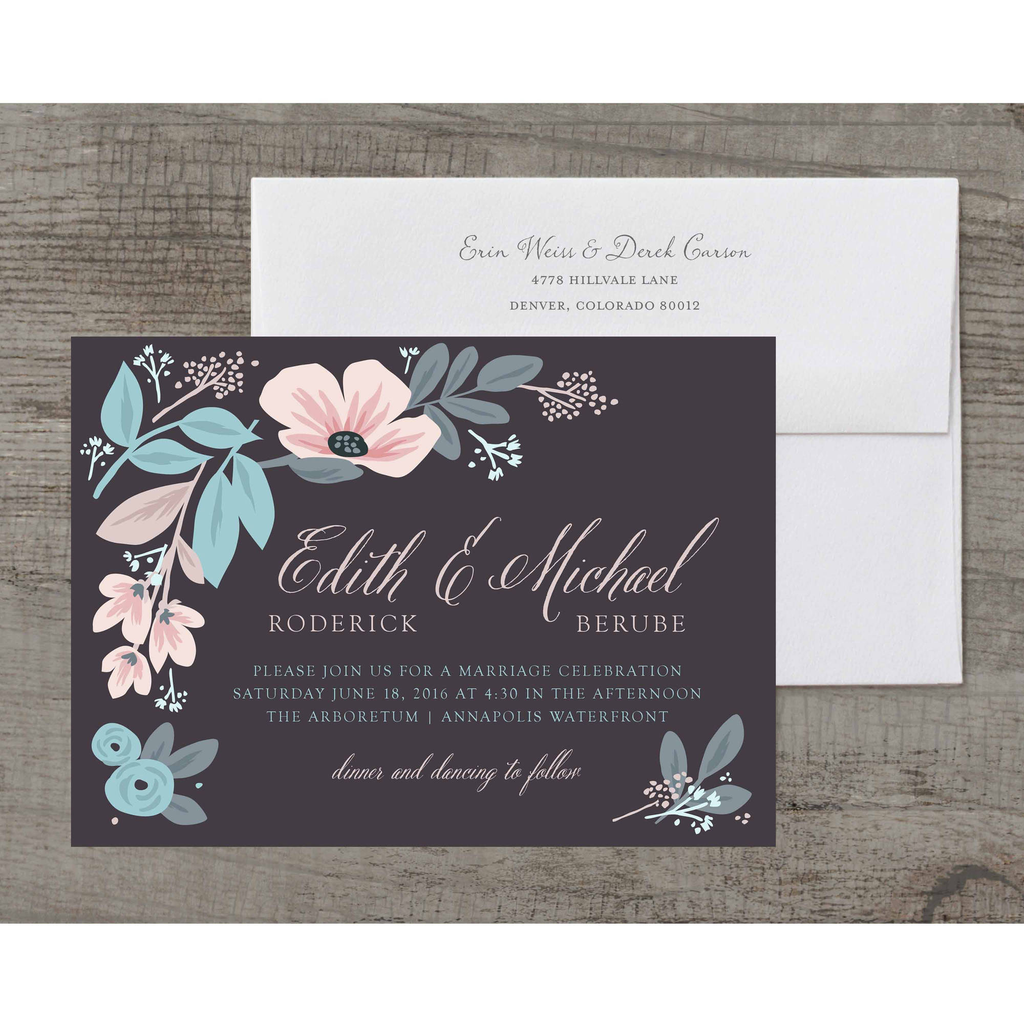 Sketchbook Botanical Deluxe Wedding Invitation