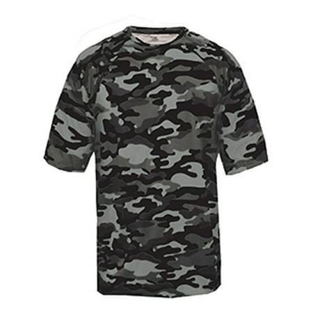 Badger Adult Camo Short-Sleeve T-Shirt 4181 - Jet Camouflage Tank Top