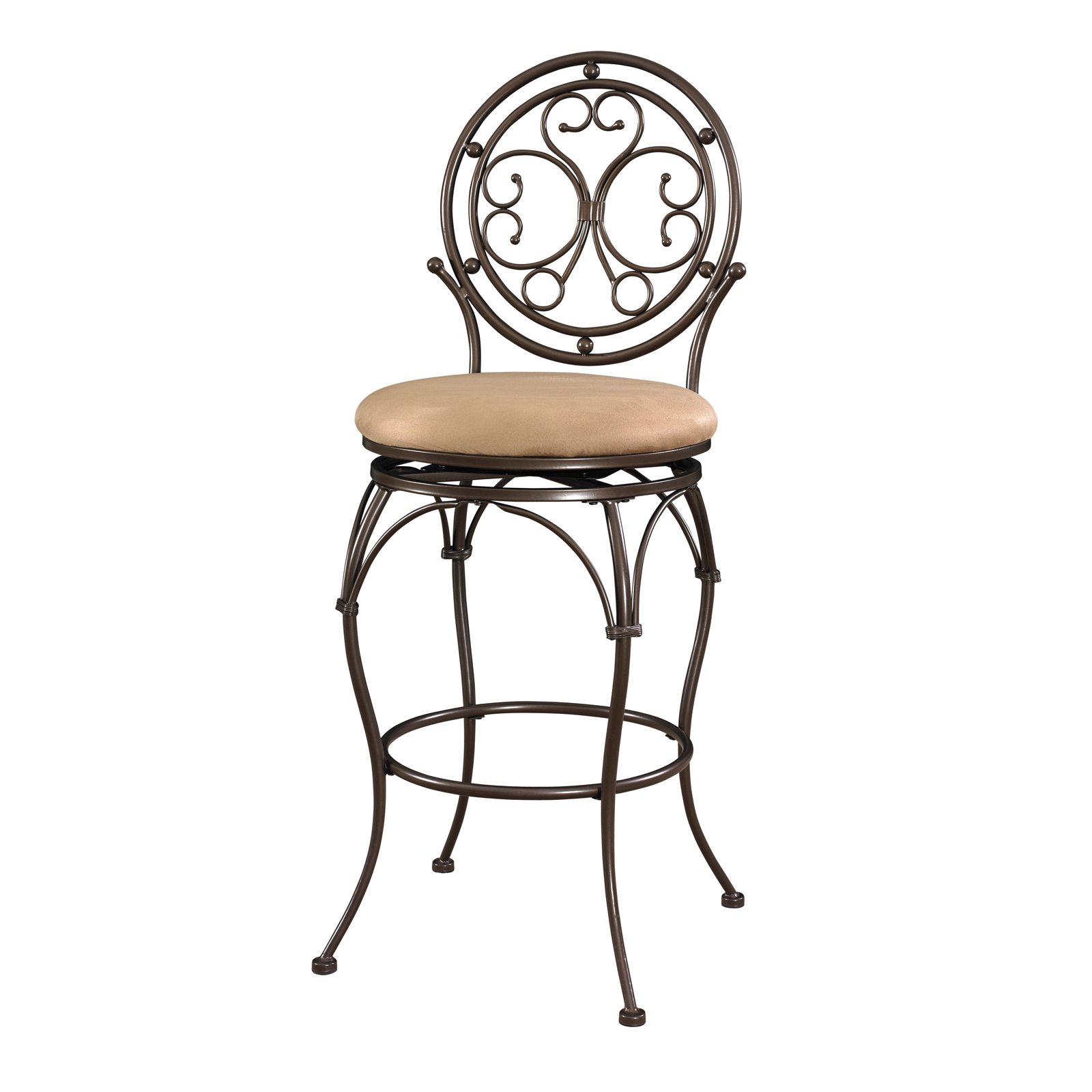 Powell Big & Tall Scroll Circle Back Bar Stool by Powell