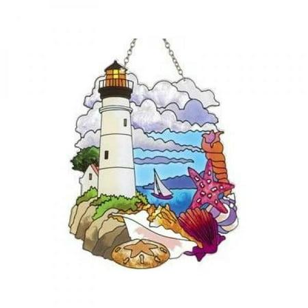 (Lighthouse and Shells Sun Catcher)