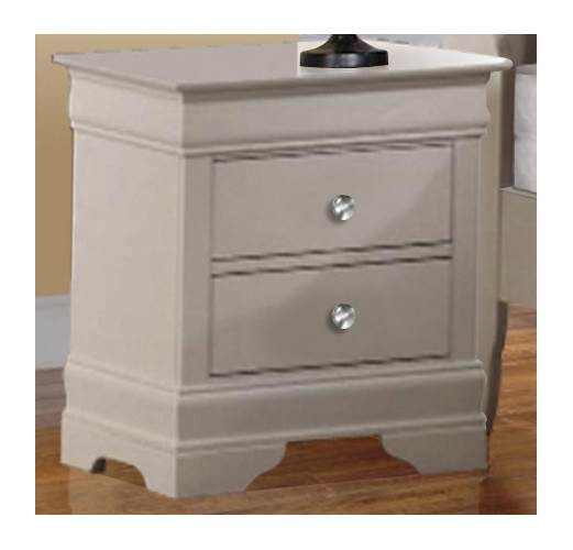 22 in. Nightstand in White Finish