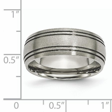 Titanium Grooved 8mm Wedding Ring Band Size 11.50 Fashion Jewelry Gifts For Women For Her - image 2 of 10