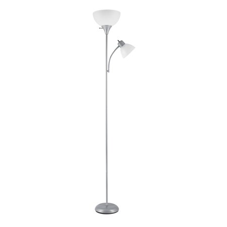 Globe Electric Delilah 72 In Silver Torchiere Floor Lamp