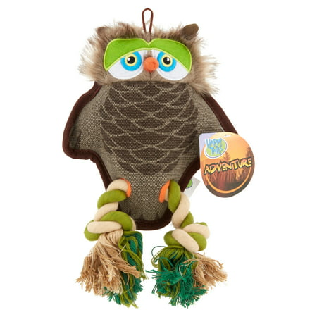 Slinky Dog Toy - Happy Tails Plush Adventure Owl Dog Toy