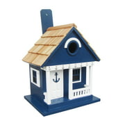 Home Bazaar HB-9407S Finely Crafted Detailed Anchor Cottage Birdhouse, Blue