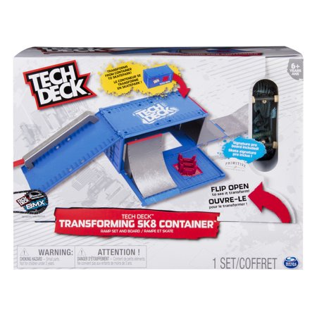 Tech Deck - Transforming SK8 Container with Ramp Set and Skateboard ()