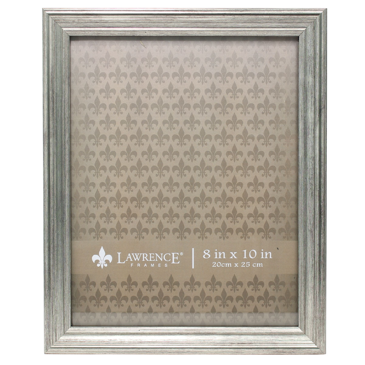 8x10 Sutter Burnished Silver Picture Frame by Lawrence Frames