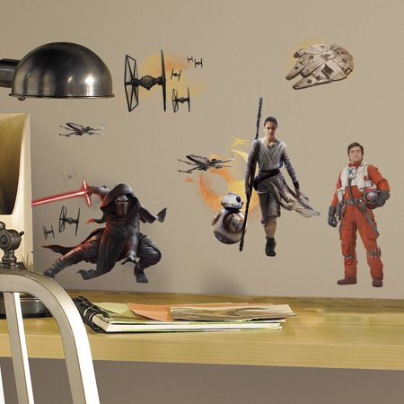 RoomMates Star Wars Episode VII Ensemble Cast Peel and Stick Wall Decals](Star Wars Decals)