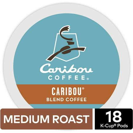 Caribou Blend K-cup (Caribou Coffee Caribou Blend, Keurig K-Cup Pod, Medium Roast, 18ct )