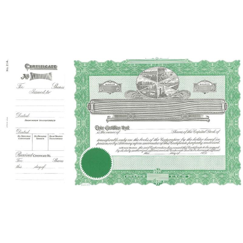 Goes 214 Stock Certificate - Pack of 25