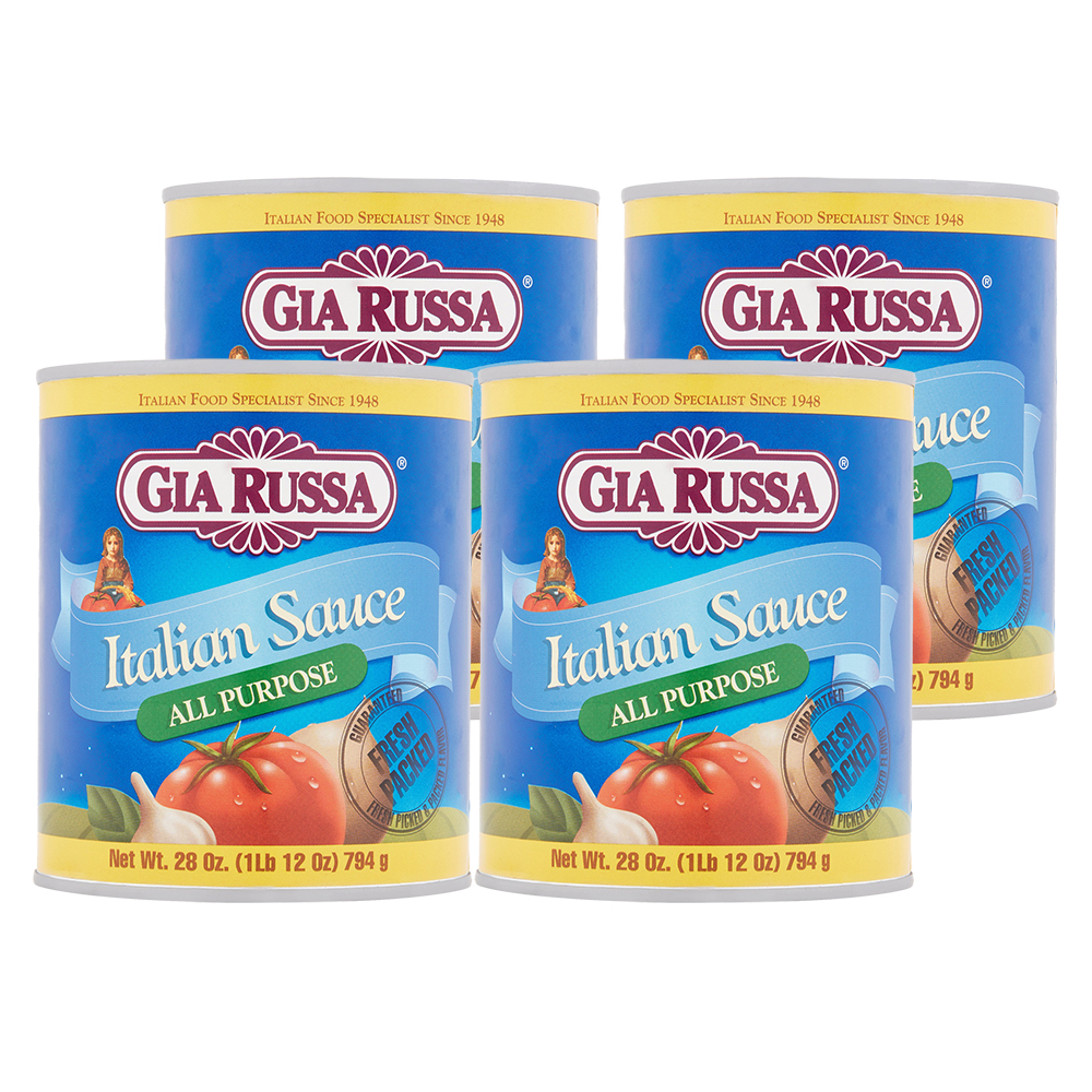 (4 Pack) Gia Russa All Purpose Italian Sauce, 28 oz
