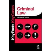 Key Facts Key Cases: Criminal Law (Paperback)
