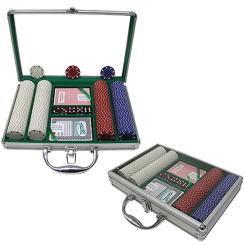 Trademark Poker 200 11.5 Gram Suited Chips with Clear Cover Aluminum Case
