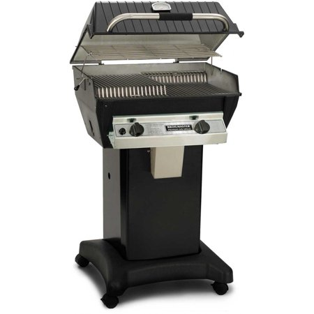 Combination Gas Grill - Broilmaster R3BN Infrared Combination Natural Gas Grill On Black Cart