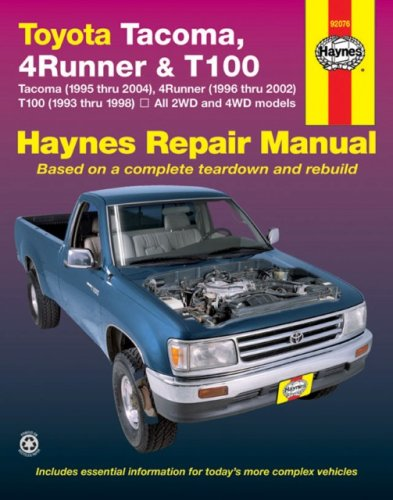toyota tacoma 4runner t100 automotive repair manual walmart com rh walmart com 1996 4Runner 1997 4Runner