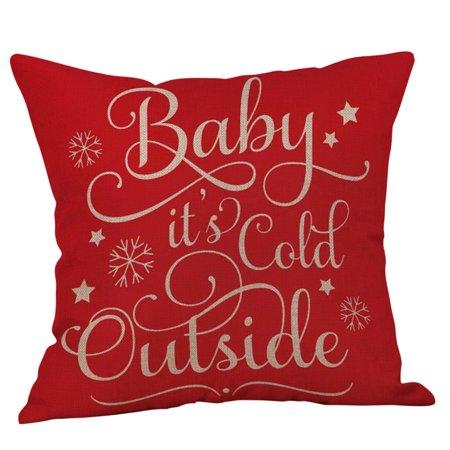 Mosunx Happy Christmas Pillow Cases Linen Sofa Cushion Cover Home Decor Pillow Case](Hippy Home Decor)