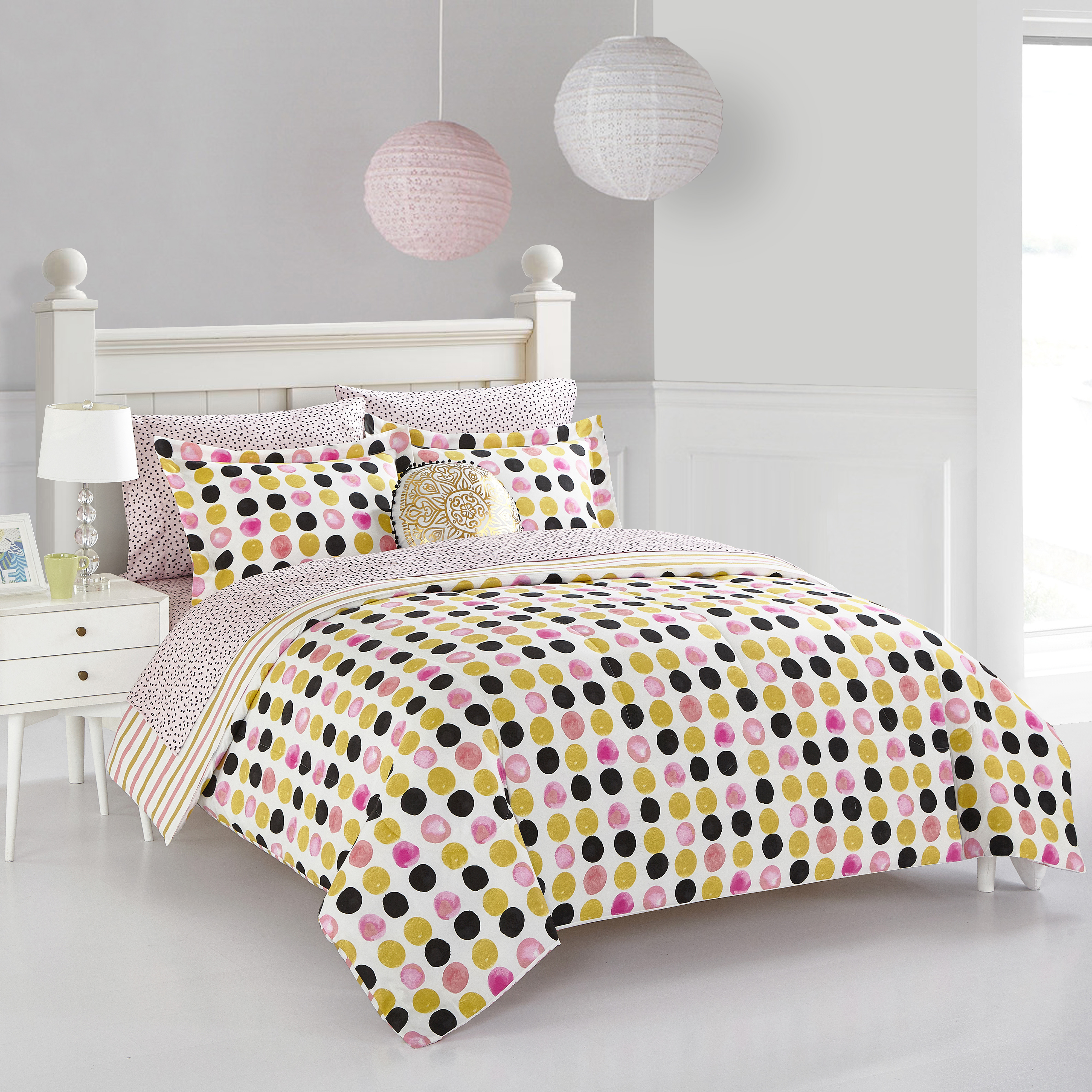 Mainstays spotted dots bed in a bag, Twin-xl