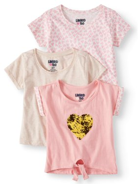 e17985a4e Product Image Limited Too Solid, Heart Printed & Reversible Sequin T-shirts  (Baby Girls &