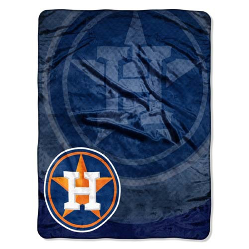 "Houston Astros 50""x60"" Royal Plush Raschel Throw Blanket - J"
