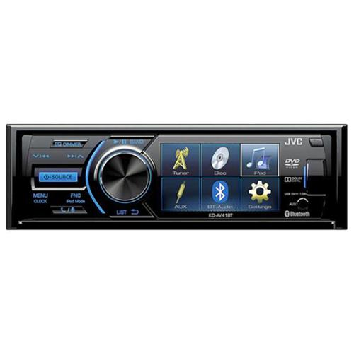 "Jvc Kd-av41bt Car Dvd Player - 3"" Lcd - 16:9 - 80 W Rms - Single Din - 4 Channels - Dvd+rw, Dvd-rw, Cd-rw - Dvd Video, Video Cd, Mpeg-1, Mpeg-2, Svcd - Cd-da, Mp3, Wma - Am, Fm - Bluetooth (kdav41bt)"