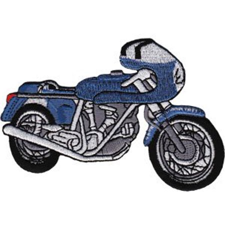 Application Blue Cafe Racer Patch - image 1 of 1