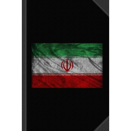 Iran Flag Vintage Journal Notebook: Blank Lined Ruled for Writing 6x9 120 Pages (Paperback)