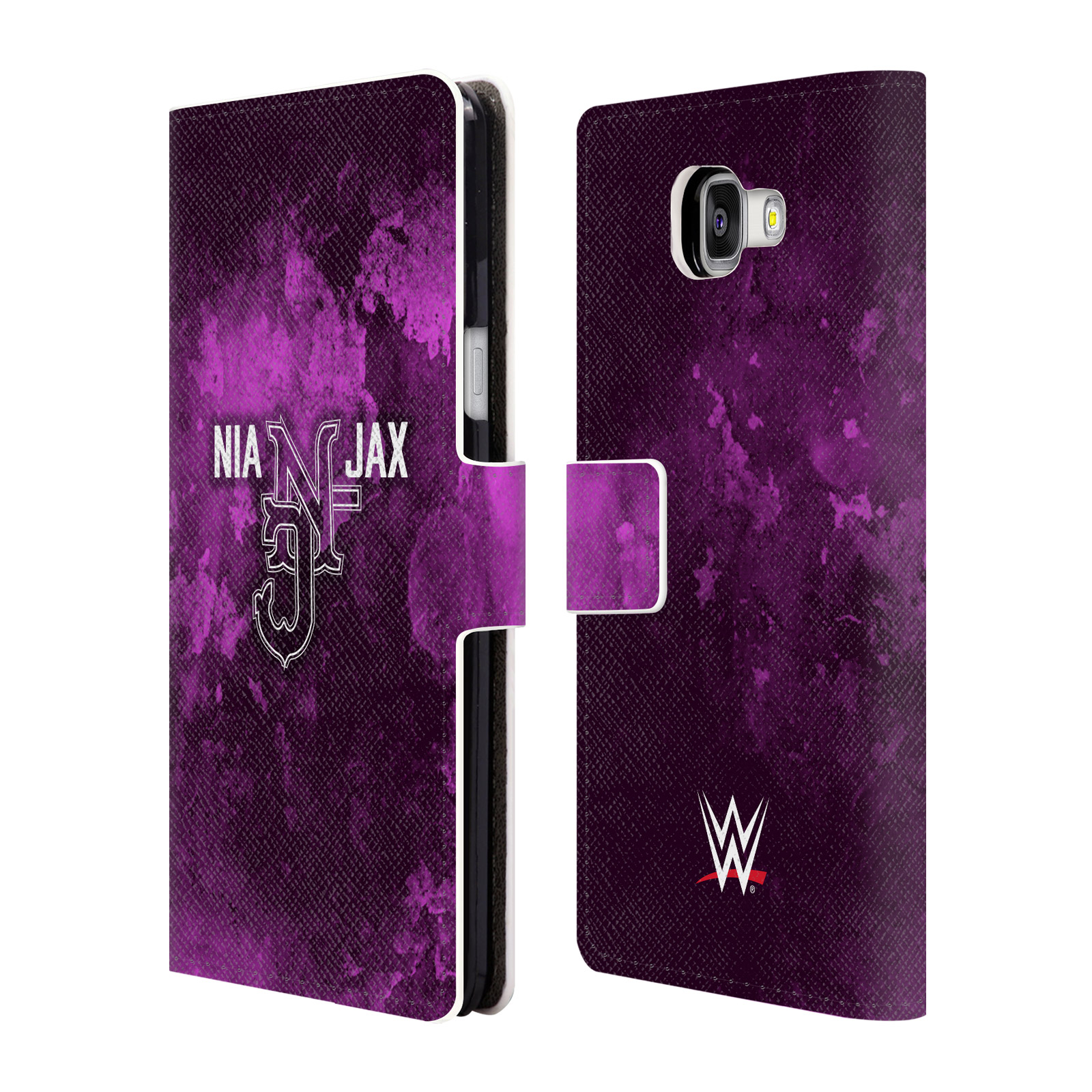 OFFICIAL WWE NIA JAX LEATHER BOOK WALLET CASE COVER FOR SAMSUNG PHONES 2