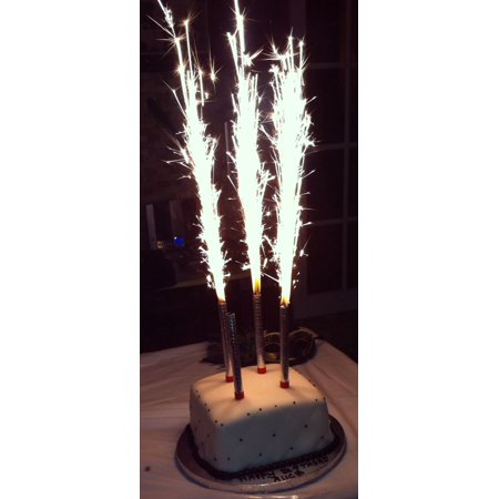SPARKLING PARTY CANDLES 6 CT,  SPARKLERS 3 gold and 3 Silver