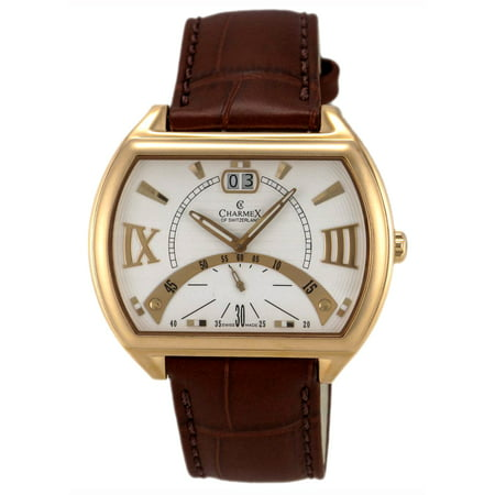 of Switzerland Monte Carlo Rose Gold Plated Mens Watch White Dial