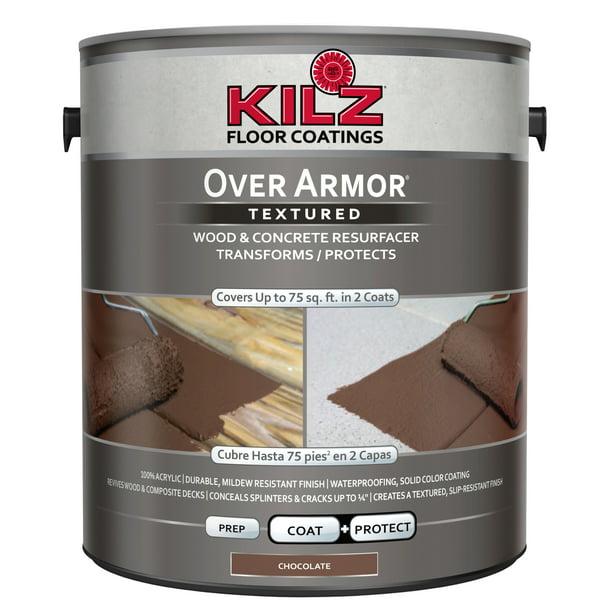 Kilz Over Armor Wood Concrete Coating 1 Gallon Walmart Com