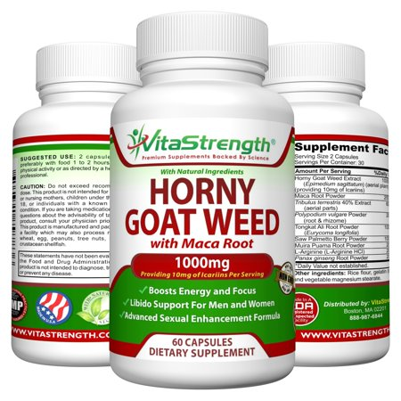 Premium Horny Goat Weed With Natural Herbs For Both Women And Men Complete Formula Of Horny Goat Extract Maca Root Ginseng Saw Palmetto