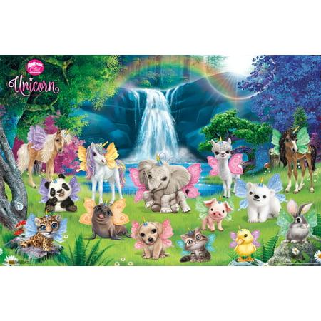 - Animal Club - Unicorn Group Poster and Mount Bundle