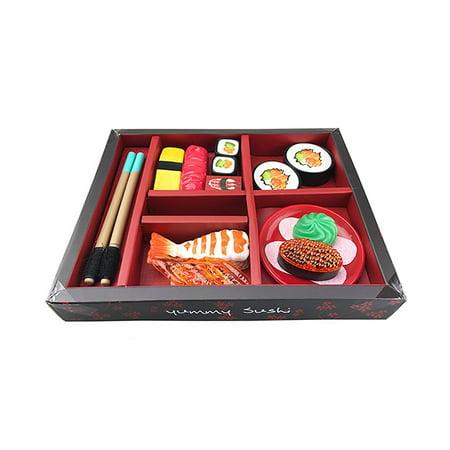 21-piece Sushi Japanese Dinner Bento Box Pretend Play Cutting Food Set