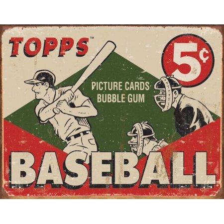 TOPPS - 1955 Baseball Box Tin Sign - 16x12