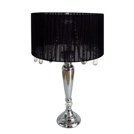 Elegant Designs Trendy Romantic Sheer Shade Table Lamp with Hanging Crystals - image 2 of 3