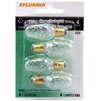Sylvania 13569 - 4C7/CR/BL/4PK  120V  CRYSTAL Night Light - Crystal Light Bulbs