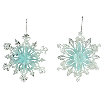 Acrylic Snowflakes (Acrylic Icy Blue Snowflake Christmas Ornament, 5-Inch,)
