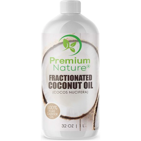 Fractionated Coconut Oil Massage Oil - Cold Pressed Pure MCT Oil for Essential Oils Mixing Dry Skin Moisturizer Natural Carrier Baby Oil for Face Hair & Body Therapeutic Aromatherapy Virgin Raw 32