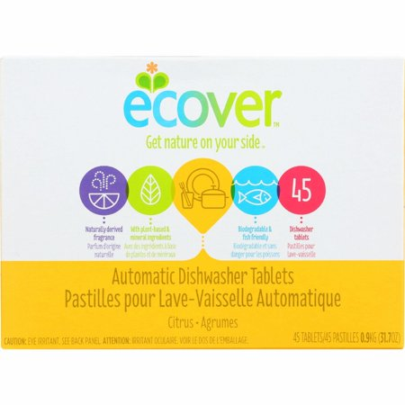 Ecover Automatic Dishwasher Tablets - Citrus - 45 Count - Pack of 5