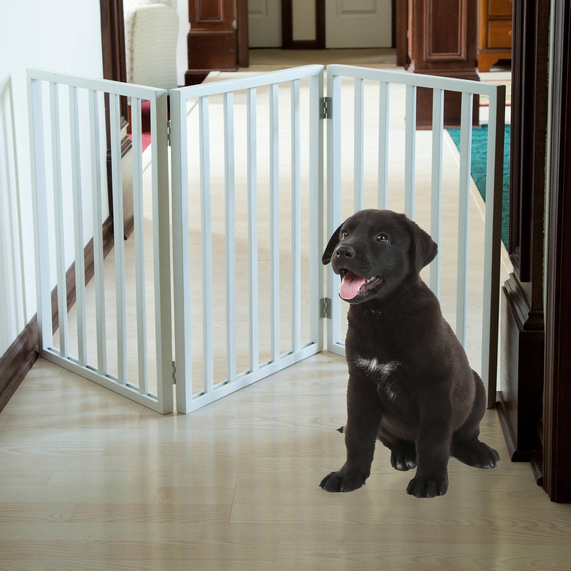 PETMAKER Freestanding Wooden Pet Gate, White