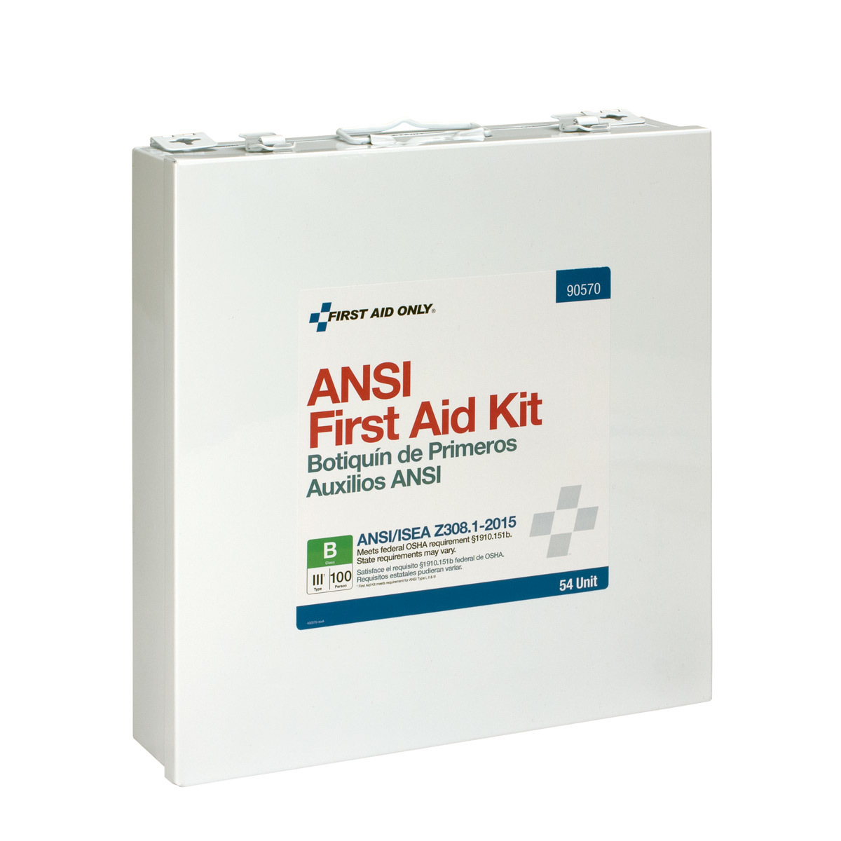 First Aid Only 54 Unit 100 Person ANSI B First Aid Kit, Metal