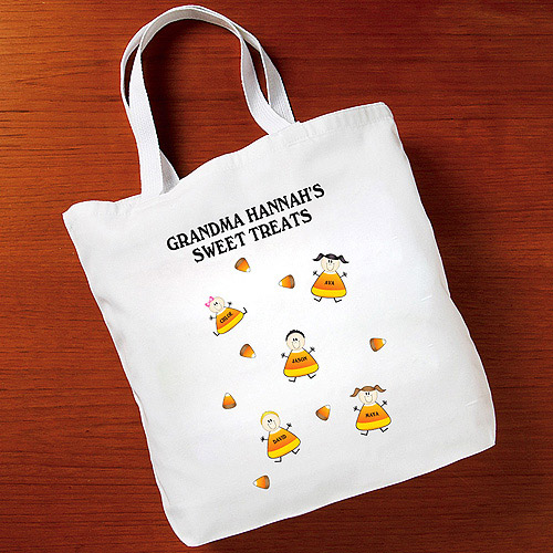 Personalized Halloween Sweet Treat Tote Bag