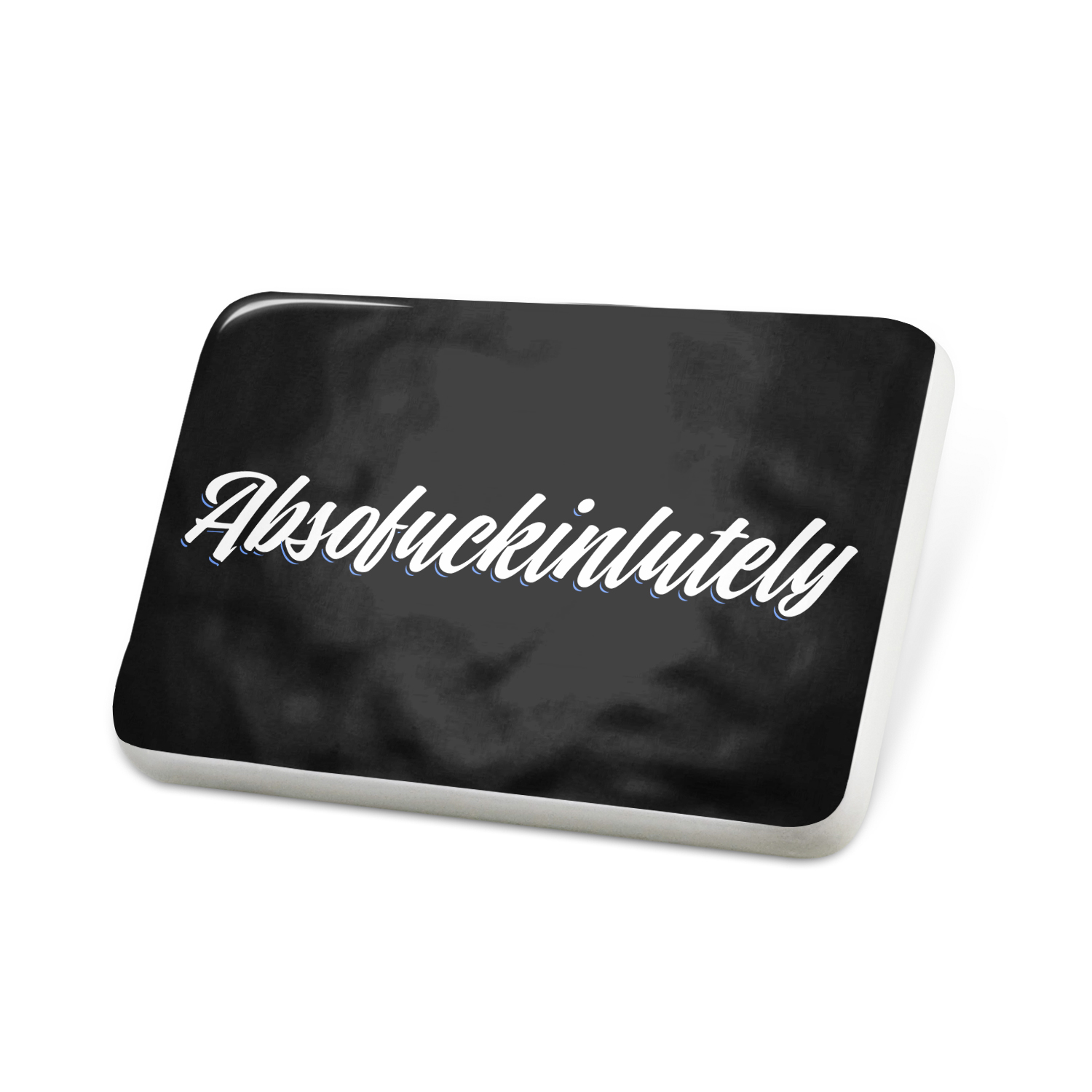 Porcelein Pin Classic design Absofuckinlutely Lapel Badge – NEONBLOND