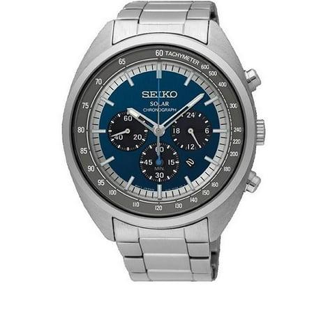 b5c389c85 Seiko - Seiko Men's 45mm Steel Bracelet & Case Hardlex Crystal Solar Blue  Dial Analog Watch SSC619P1 - Walmart.com