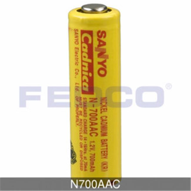 FedCo Batteries Compatible with  Sanyo N700AAC 1.2V 700mAh AA Powersonic Nickel Cadmium Battery For Consumer Industrial Applications