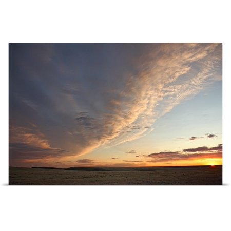 Great Big Canvas Robert Postma Poster Print Entitled Skies Over Grasslands National Park At Sunset  Saskatchewan  Canada