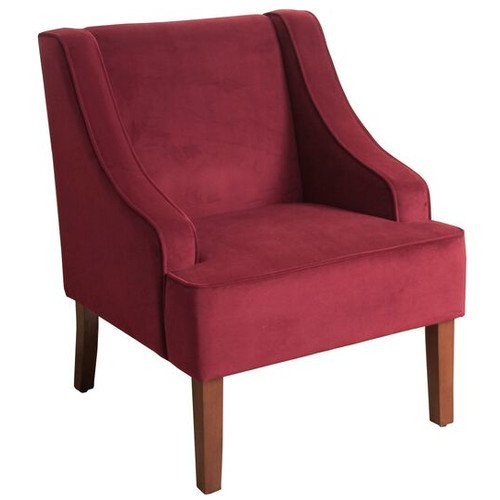 Kinfine USA Swoop Arm Velvet Accent Chair