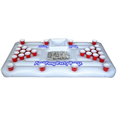 Gopong Pool Party Barge Floating Beer Pong Table With